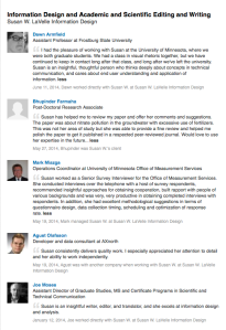 LinkedIn recommendations screenschot.