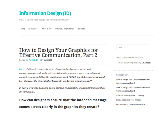 (ID) Information Design Blog