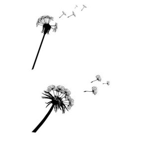 Dandelion Silhouettes with Flying Seeds http://www.freepik.com/